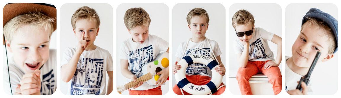 Fotowettbewerb mit lustigen Kinderfotos: Beispiel einer Foto-Collage mit Storytelling