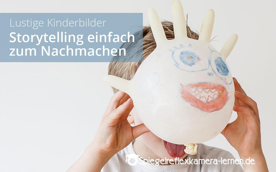 Lustige Kinderbilder: Kinderportraits mal auf eine andere Art fotografiert